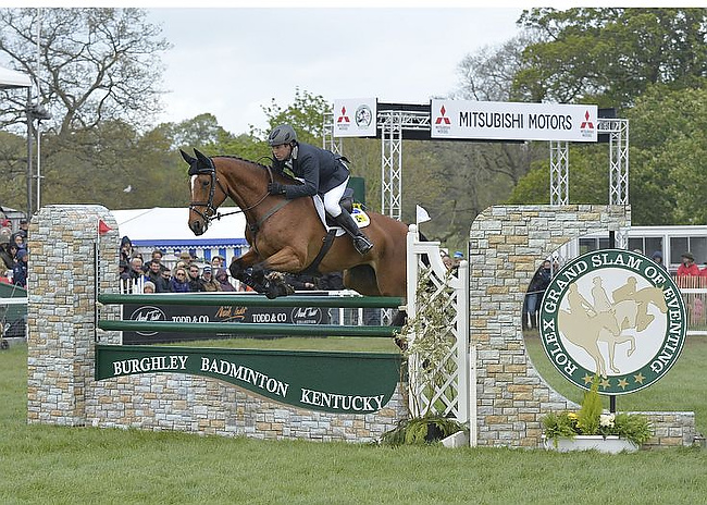 Sam Griffiths (AUS) wins the 2014 Mitsubishi Motors Badminton Horse Trials