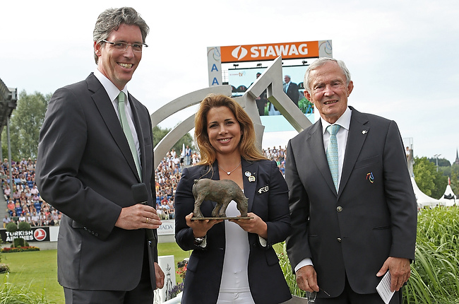 CHIO Aachen 2014: Prinzessin Haya mit dem Preis der Stadt Aachen geehrt