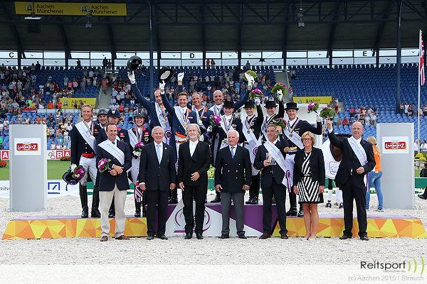 EM Aachen 2015: Teamgold für niederländische Dressur-Equipe