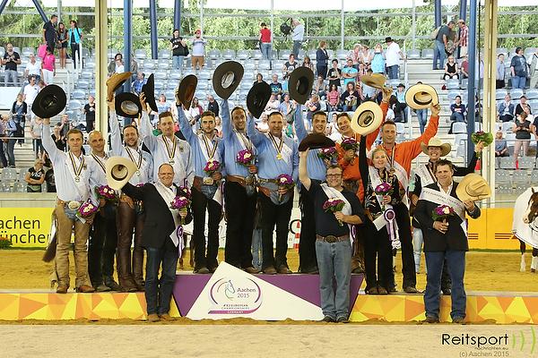 EM 2015 Aachen: Gold für die Westernreiter aus Italien