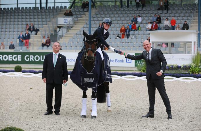CHIO Aachen 2021 : Erste Siegerin im Dressurviereck